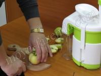отжим сока из яблок