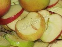 порезка яблок перед сушкой