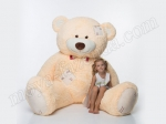Бежевый плюшевый медведь 250 см