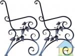 Кованные боковины (ножки) садовой скамейки (2 шт)