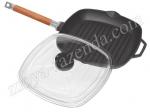 Чугунная сковородка для мяса гриль