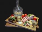 Деревяная доска для разделки мяса и нарезки овощей 245 мм х 400 мм