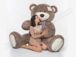 Огромный плюшевый медведь цвета Капучино