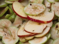 яблоки кольцами
